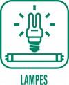 Panneau ampoules déchèteries